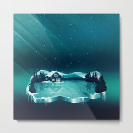 Frozen Magic Metal Print