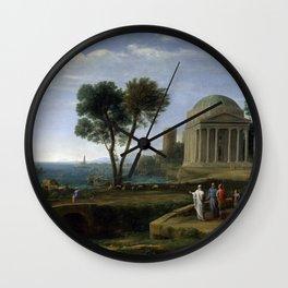Claude Lorrain Landscape with Aeneas at Delos Wall Clock