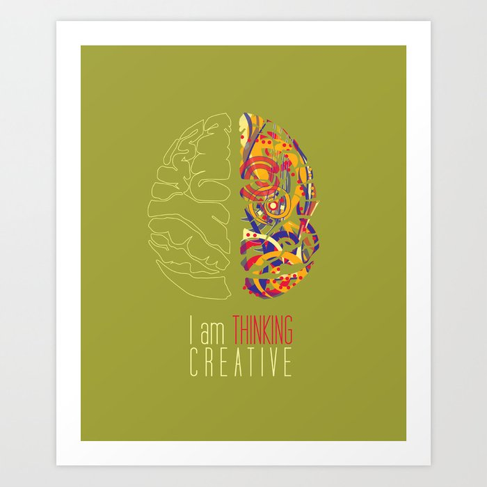 I am thinking Creative Art Print