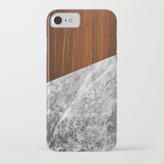 Wooden Marble iPhone 7 Slim Case