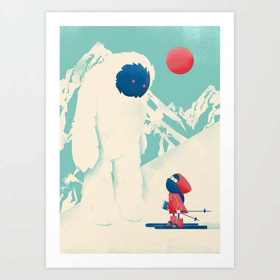 Encounter on the Bunny Slope Art Print