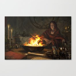 Visions of Fire Canvas Print