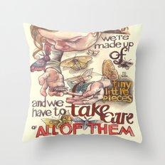 Tiny Pieces Throw Pillow
