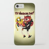 wrestling iPhone & iPod Cases featuring It's Wrestling Time!  by Rad Recorder