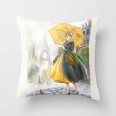 bonjour paris! Throw Pillow