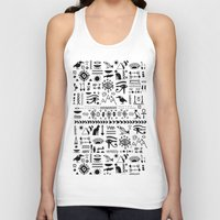 egyptian Tank Tops featuring Egyptian Pattern by Mad Love