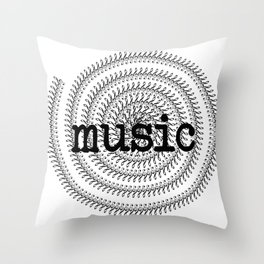 Sol keys and music Throw Pillow