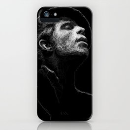 Tom Waits (scribble style) iPhone Case