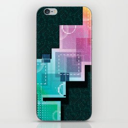 Abstract Tech iPhone Skin