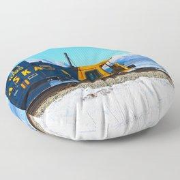 Caboose - Alaska Train Floor Pillow