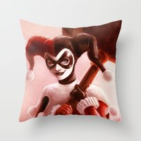 harley Throw Pillows featuring Harley by fabvalle