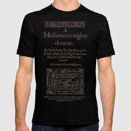 Shakespeare. A midsummer night's dream, 1600 T-shirt