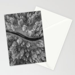 Snow pine forest Stationery Cards