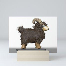Brown CG Sheep Mini Art Print