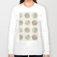 polka dots Long Sleeve T-shirts featuring Pink Tree Polka Dots by Pure Nature Photos