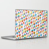 moon phases Laptop & iPad Skins featuring Moon phases by Helene Michau