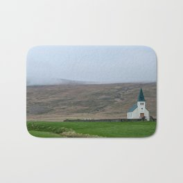 Tjorn church in Iceland Bath Mat