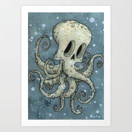 Nasty octopus Art Print