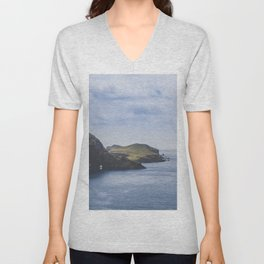 Mountains and the ocean, on the Island of Madeira / fine art photography print Unisex V-Neck