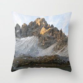 Morning in the Dolomites Throw Pillow