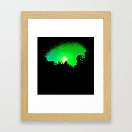 green moon Framed Art Print