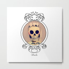 Dia de los Muertas Novia Metal Print
