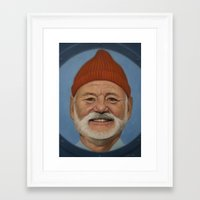 steve zissou Framed Art Prints featuring Steve Zissou  by scottmitchell