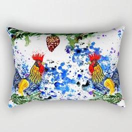 Blue watercolor rooster Rectangular Pillow