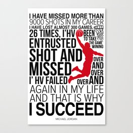 M. Jordan Motivation Canvas Print