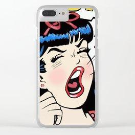 Veronica Screams DADDY! Clear iPhone Case
