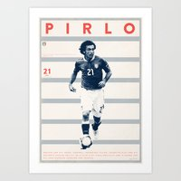 pirlo Art Prints featuring Pirlo by Dylan Giala