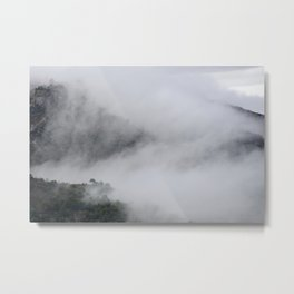 Foggy mountains. Mystery woods. Metal Print