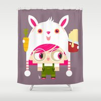 doll Shower Curtains featuring Doll by Geek