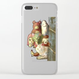 kawaii squad sloth catcorn unicat and friends! Clear iPhone Case