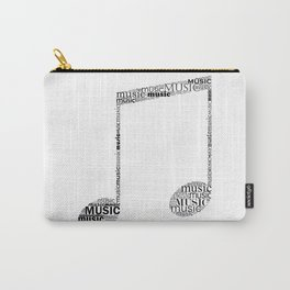 Typographic music note Carry-All Pouch