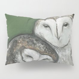 Soul Mates // Barn Owls Owl Bird Feather Wing Nature Love Animal Wild Nest Couple Marriage Family Pillow Sham