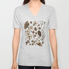 Nature Walks (Light Background) Unisex V-Neck