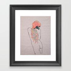 Jacs' Flowers Framed Art Print