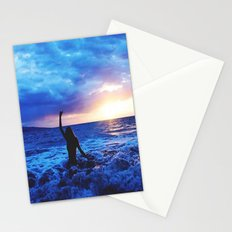 Sunset Swimmer Stationery Cards