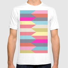 colorful confusion Mens Fitted Tee White MEDIUM