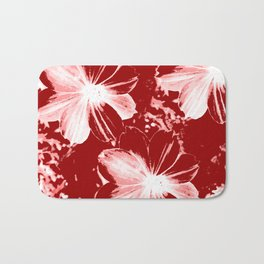 Burgundy Flowers Bath Mat