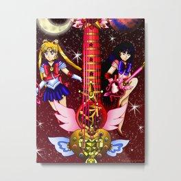 Fusion Sailor Moon Guitar #4 - Sailor Moon & Sailor Mars Metal Print