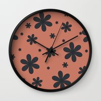 brown Wall Clocks featuring brown by Sproot