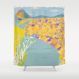 Ich bin nah am Wasser gebaut (I am built close to the water) Shower Curtain