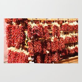Red Chili Ristra And Gralic Rug