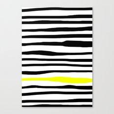Neon zebra stripes Canvas Print