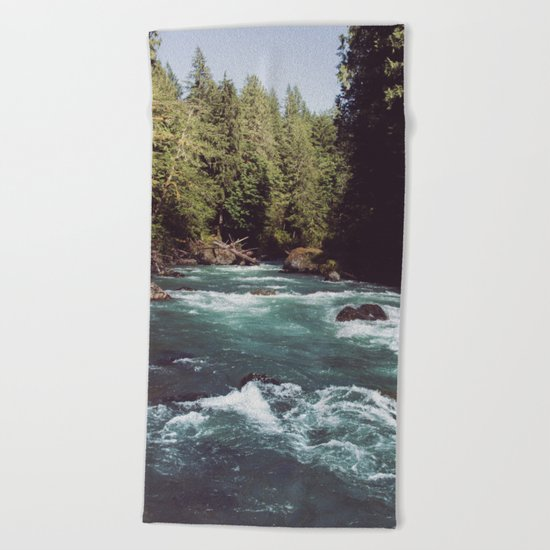 Pacific Northwest Wilderness Beach Towel