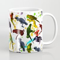 tropical Mugs featuring TROPICAL by DIVIDUS