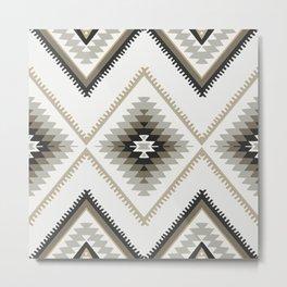 Beige Aztec Metal Print