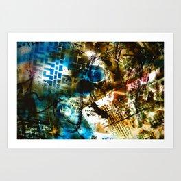 Retrollage 8.. Art Print
